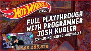 Hot Wheels Pinball Gameplay with Programmer Josh Kugler!