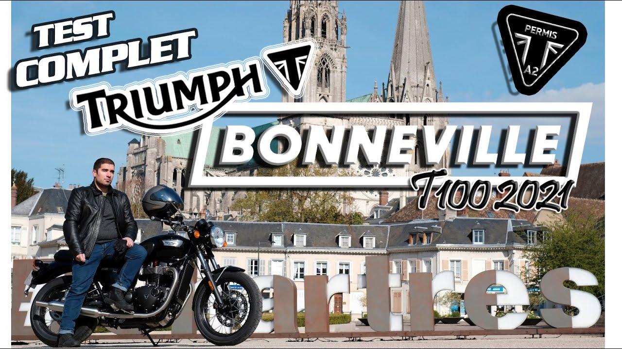 Download TRIUMPH BONNEVILLE T100 A2 2021   TEST PASSION RIDES