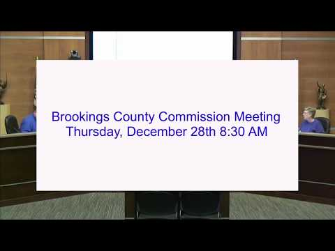 Brookings County Commission 2017-12-28