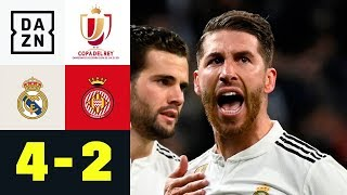 Sergio Ramos macht den Panenka-Elfer: Real Madrid - FC Girona 4:2 | Copa del Rey | DAZN Highlights
