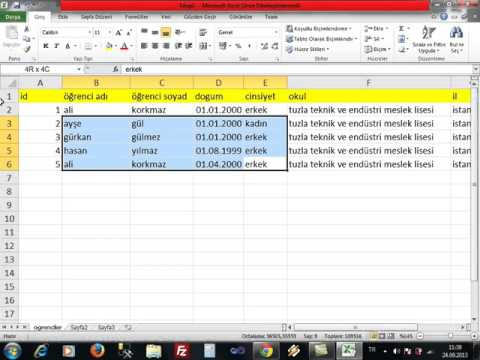 SQL Veri Tabanı