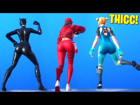 Top 10 Best Thicc Dances & Emotes In Fortnite! [Thicc Fortnite Skins]