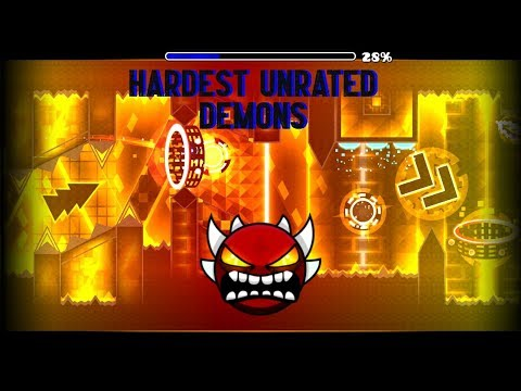 Top 5 Hardest Unrated Extreme Demons In Geometry Dash 2.1