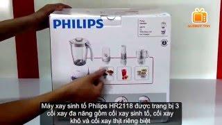 Máy xay sinh tố PHILIPS HR-2118 l Philips Blender Model HR2118