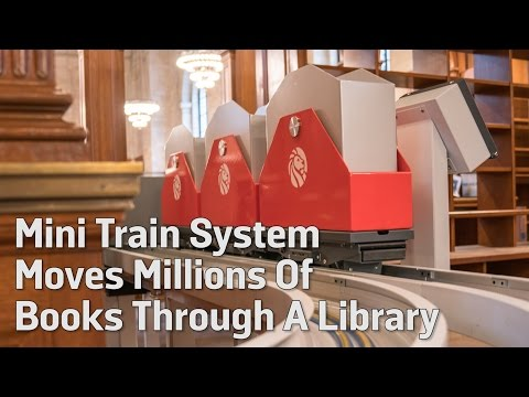 Mini Train System Moves Millions Of Books Through A Library