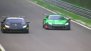 Lamborghini Huracán LP 620-2 Super Trofeo highest speed and hardest braking at Monza circuit