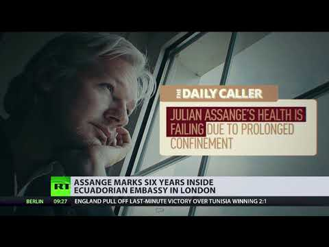Julian Assange marks 6 years inside Ecuadorian embassy in London
