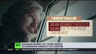 Julian Assange marks 6 years inside Ecuadorian embassy in London