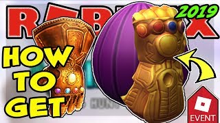 [EVENT] HOW TO GET THE THANOS EGG ROBLOX EGG HUNT 2019 Scrambled In Time - Infinity Guantlet & Egg