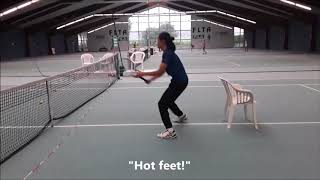 Tennis Drills - Technical Training - Volley in front of a chair