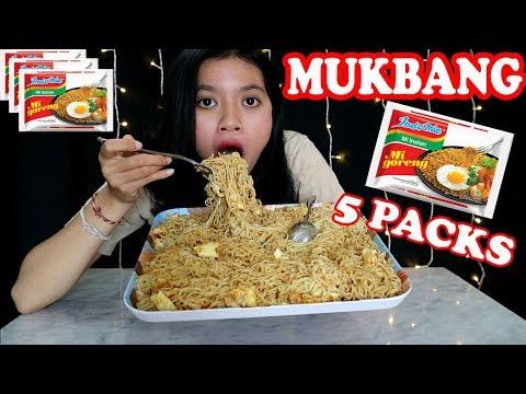 (MUKBANG INDONESIA) MAKAN INDOMIE GORENG 5 BUNGKUS!!