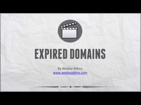 [ Create Your Own Website ] 10. Expired domain names