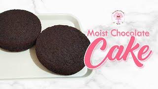 Easy Moist Chocolate Cake  Recipe for Beginners
