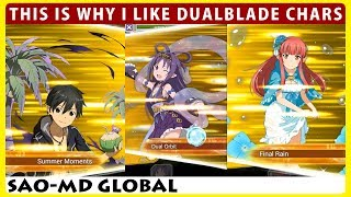 This Is Why I Like Dual Blade Characters - Damage Comparison (SAO Memory Defrag)