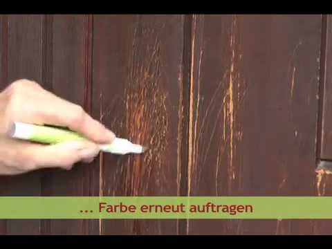 picobello reparatur l sungen mit colorstift kratzer kratzspuren an t r kaschieren youtube. Black Bedroom Furniture Sets. Home Design Ideas