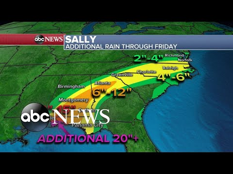 ABC News Live Update: Hurricane Sally drenches the Gulf Coast