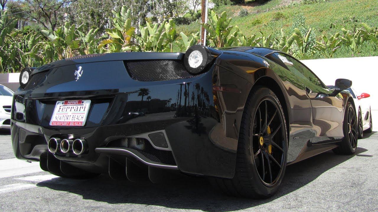 all black ferrari 458 italia youtube - Black Ferrari 458 Italia