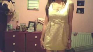 primark gold dress Thumbnail