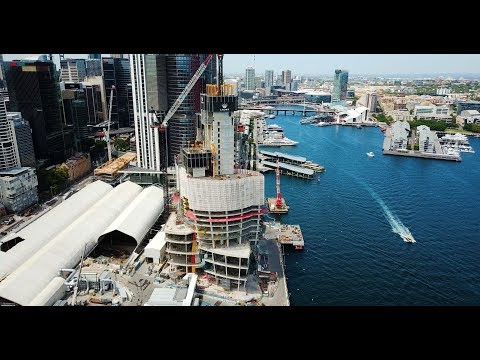 Crown Hotel Resort Sydney - Top Down Construction Tower Progress