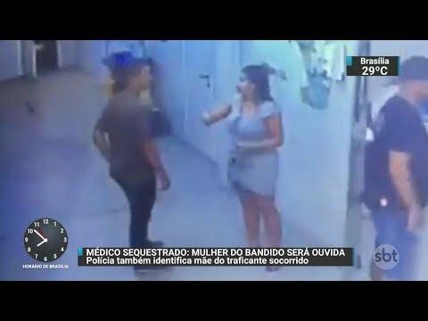 Polícia identifica mãe e esposa do criminoso socorrido por médico no RJ | SBT Brasil (19/10/17)