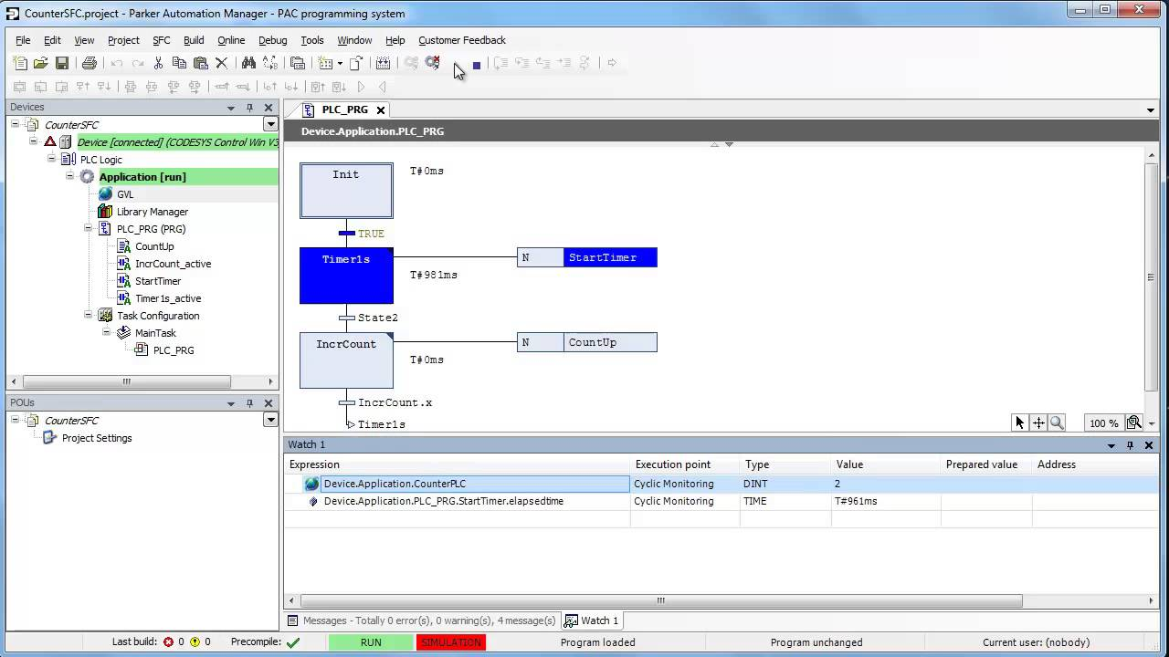 Sample Plc Program Sfc Time Based Counter  Sequential Flow