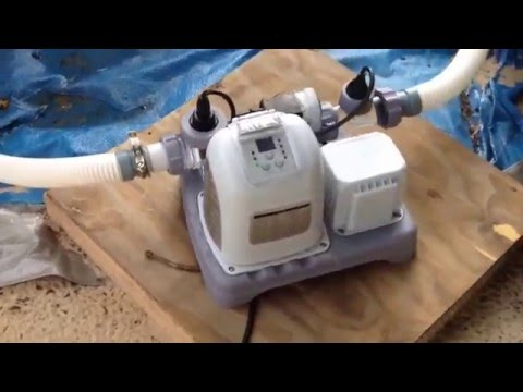 intex sand filter pump hook up