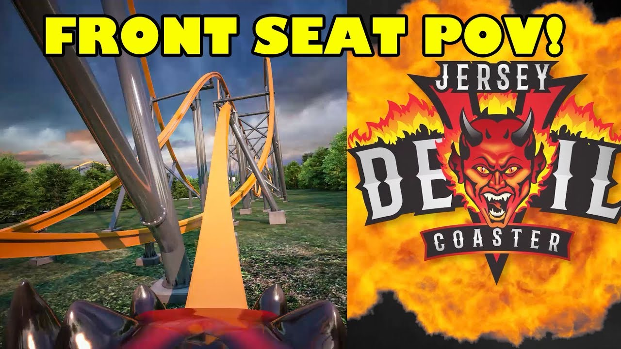 Jersey Devil Roller Coaster Front Seat Full Pov Six Flags Great Adventure 2020 Youtube