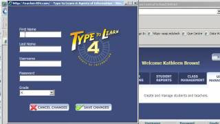 Type To Learn 4 - add new students and create classes