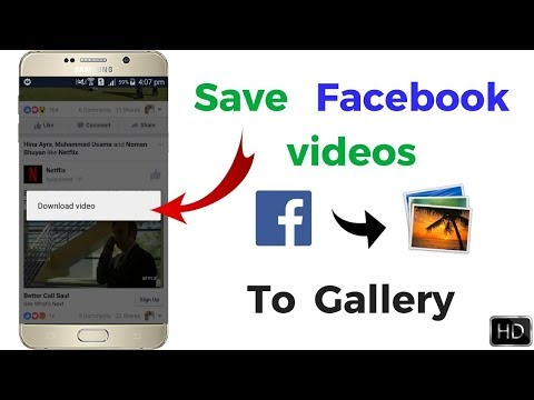 How to Save Facebook Videos in Gallery 2018 method ! just one click