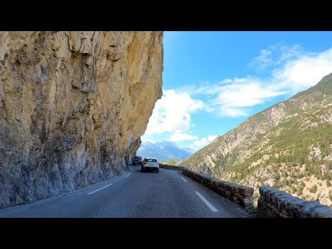 Driving the Gorges du Guil, France