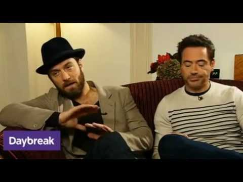 Daybreak Interview with Jude Law and Robert Downey Jr 'Sherlock Holmes: A Game Of Shadows'