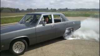 Plymouth Valiant V8 burnout MUST SEE!!!!