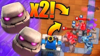 2X GOLEM = BEST 2X ELIXIR DECK! // Clash Royale