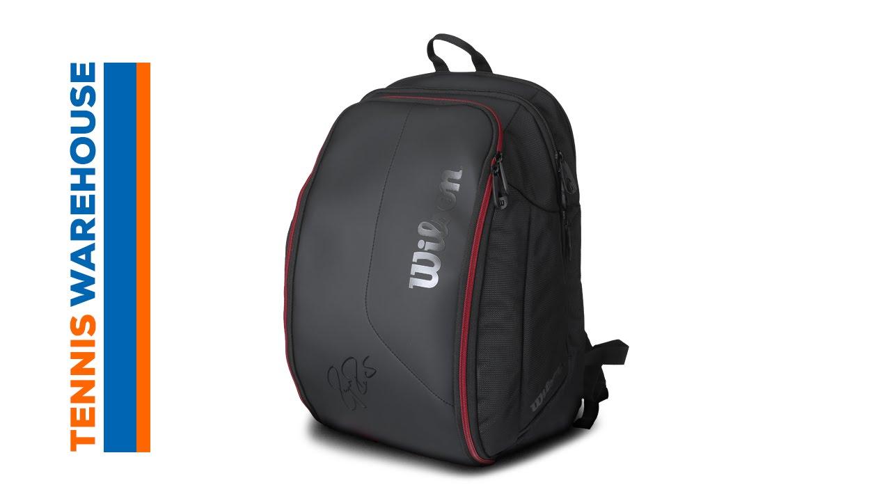 3f6d9e8c92 Wilson Federer DNA Backpack Bag - YouTube