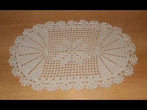 Tapete Deise De Croch 234 Oval Em Barbante Parte 1 Crochet