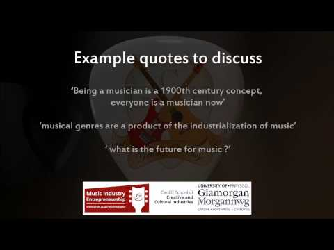 Essential information, how to make it in the music industry.  The future of music.