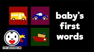 Baby's First Words | Things that go | Simple learning video for babies and toddlers