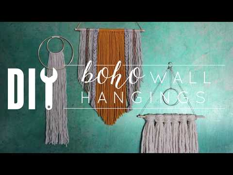 DIY Boho Wall Hangings