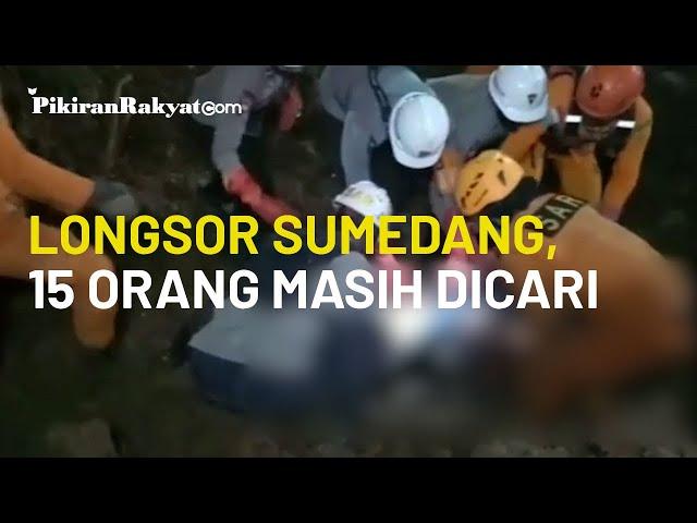 Update Longsor Sumedang, Jawa Barat: 15 Orang yang Diduga Tertimbun Masih dalam Pencarian Basarnas