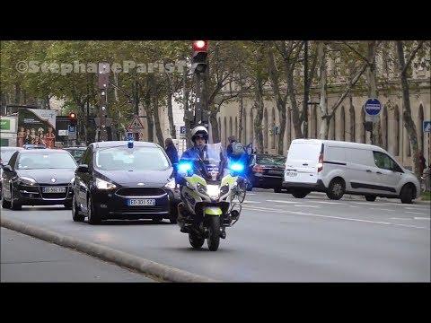 Police convoy :Iraqi PM Haider al Abadi arrives in Paris