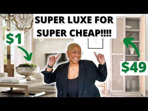 10 CHEAP Home Decor and Furniture Items that Look EXPENSIVE/LUXE! | Affordable Interior Design Tips!