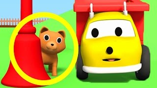 ETHAN the dump truck PLAYS with a CAT and LEARN COLORS   Educational cartoon for children