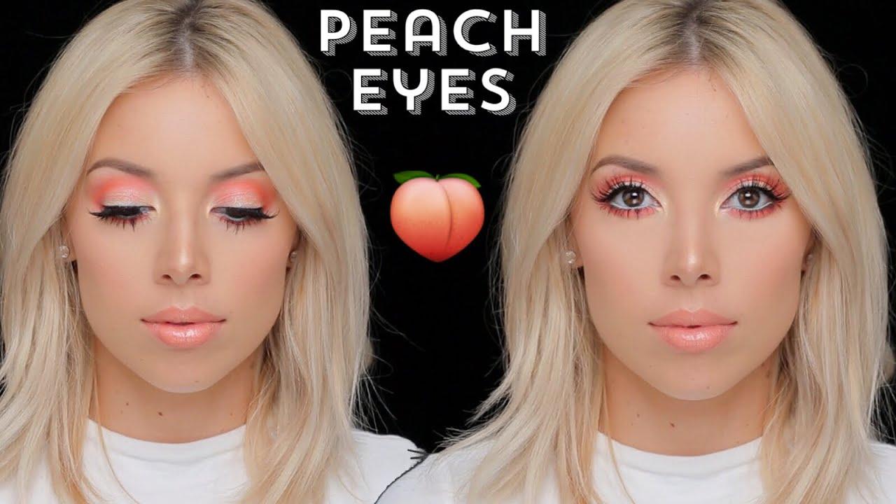 Peachy Keen Eye Makeup Tutorial Lustrelux Youtube