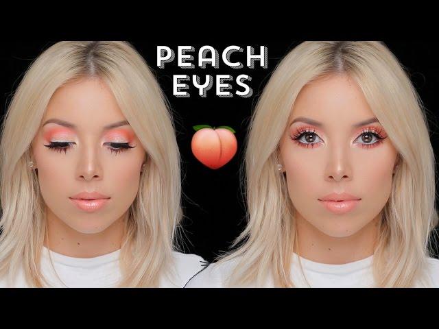 Chic Summer Look Peachy Summer Eyeshadow Makeup Tutorial
