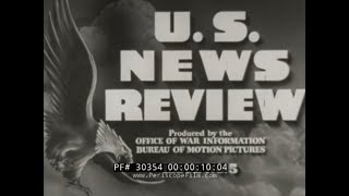 U.S. NEWS REVIEW with VERONICA LAKE   WOMEN DURING WWII   BOMB RAID ON BREMEN  (Print 1)   30354