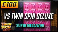 Online Casino Slots: €100 VS TWIN SPIN DELUXE + SUPER MEGA WIN?!  (2018)
