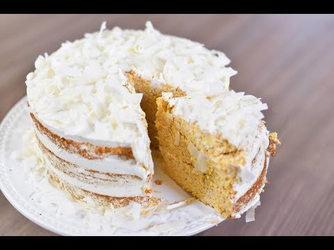 Gluten, dairy and refined sugar free Pineapple and Coconut Cake @Leonor's