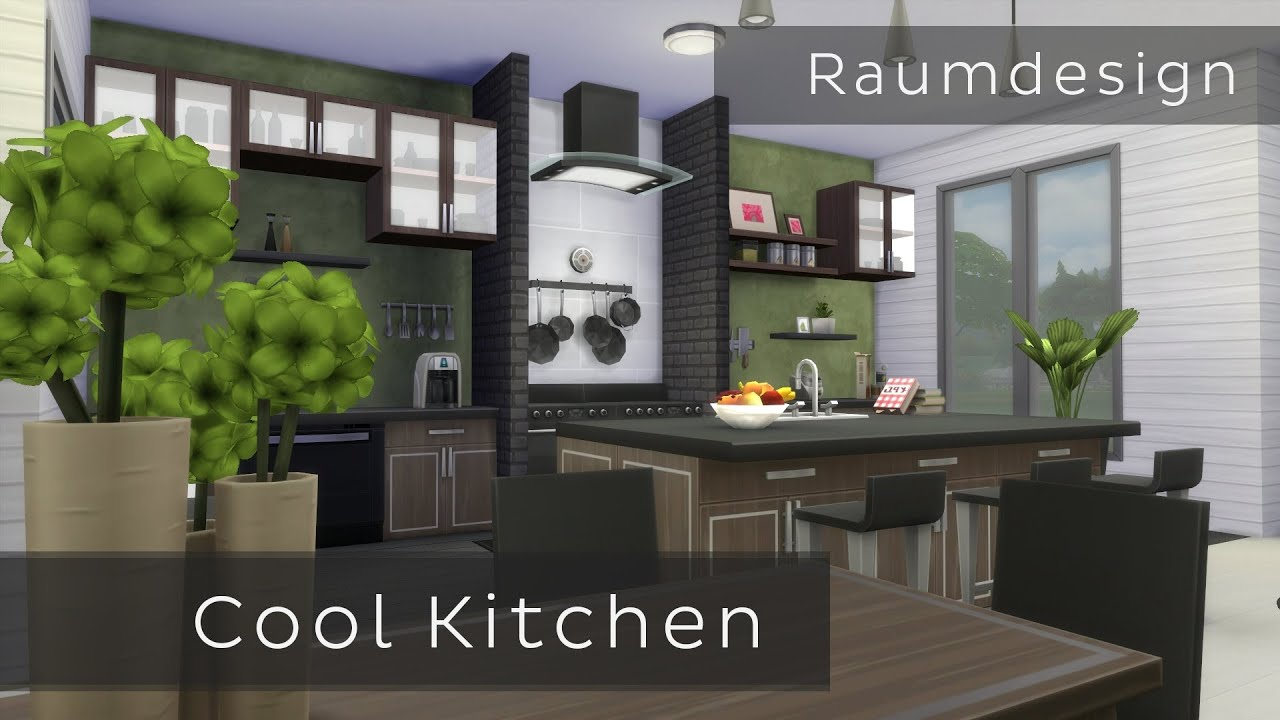 die sims 4 raumdesign cool kitchen youtube. Black Bedroom Furniture Sets. Home Design Ideas