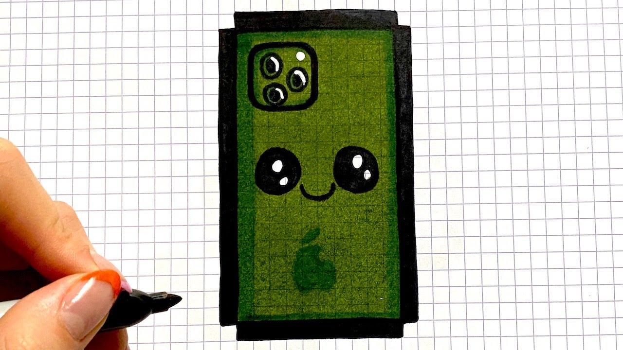 Tuto Dessin Facile Iphone Telephone Pixel Art Youtube