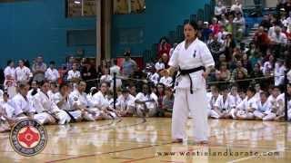 West Island Karate - Seipai - Kyokushin Kata - Emily Woo - Montreal, Quebec, Canada